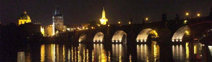 Prague - Charles Bridge at night